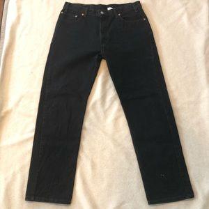 Vintage 36x32 Levis 505 Reg Fit Straight Leg Black